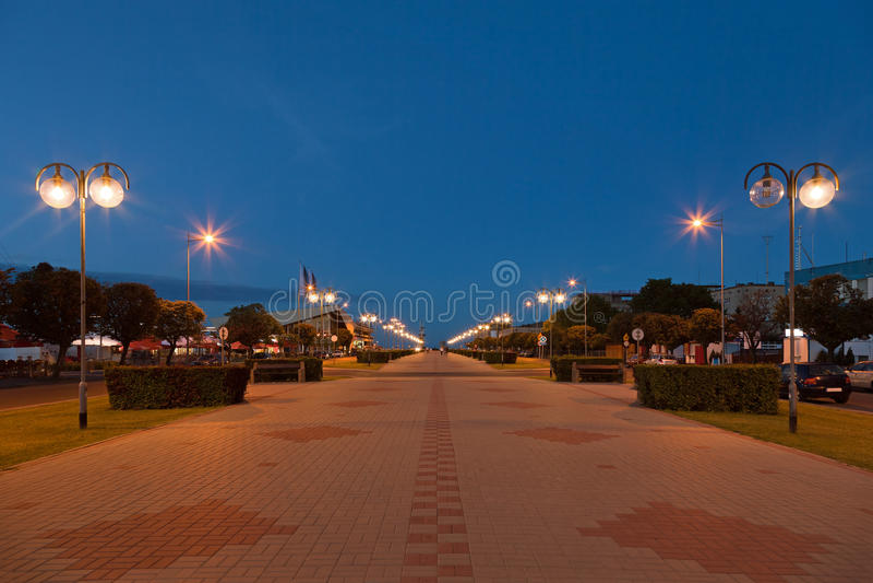 Kosciuszko in square in Gdynia, Poland. stock photos