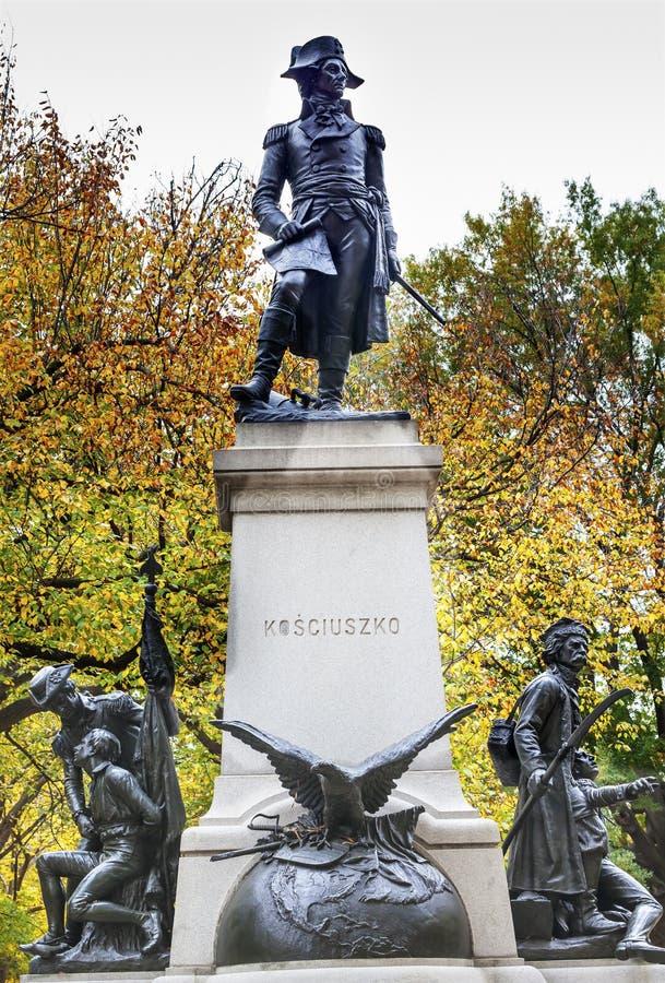 Kosciuszko Statue Lafayette Park Autumn Washington DC. Andrzej Kosciusko Statue, American Revolutionary Hero, Later Polish, Lithuanian Belarusian National Hero stock image