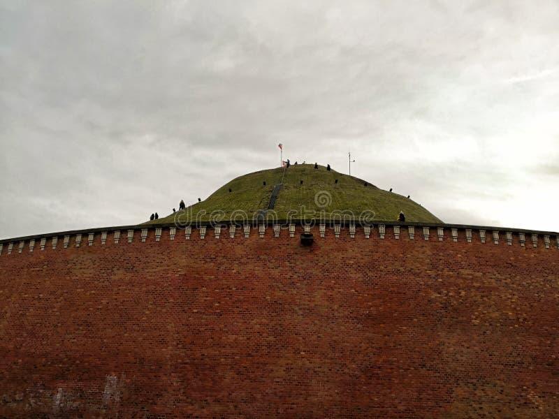 Kosciuszkohoop, één van de beroemdste oriëntatiepunten van de stad van Krakau in Polen royalty-vrije stock foto's