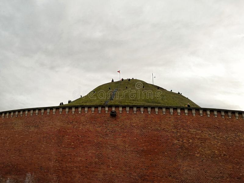 Kosciuszkohoop, één van de beroemdste oriëntatiepunten van de stad van Krakau in Polen stock foto's