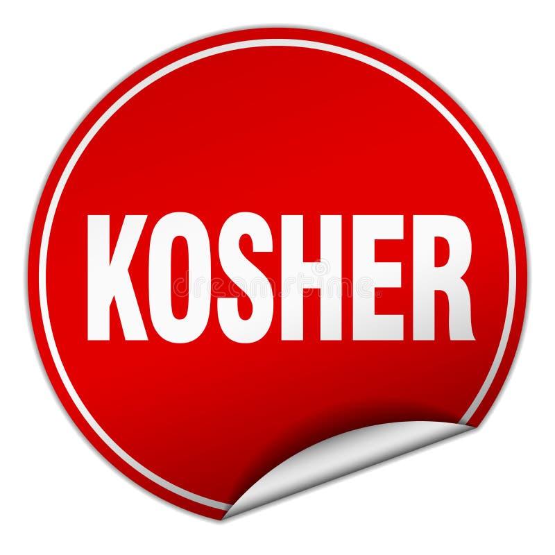 kosher αυτοκόλλητη ετικέττα απεικόνιση αποθεμάτων