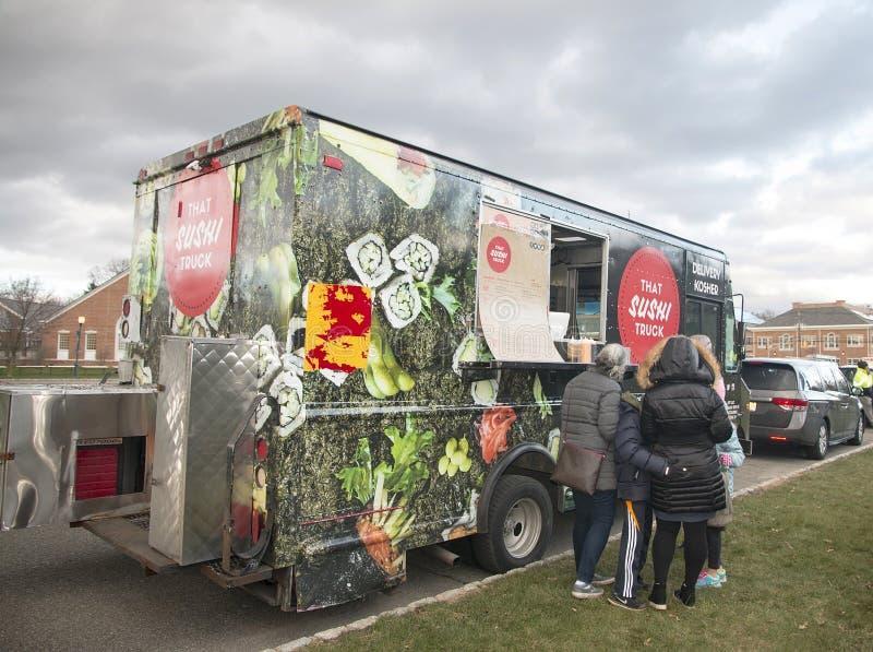 Kosher φορτηγό σουσιών στοκ φωτογραφίες