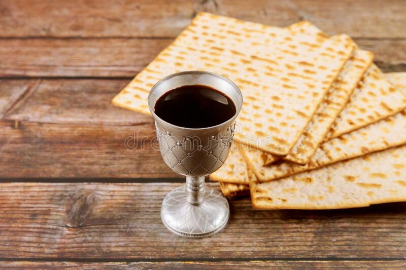 Kosher kiddush in silver cup. Jewish holiday concept royalty free stock photos