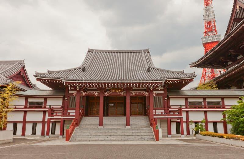 Koshoden Hall de temple de Zojo-JI, Tokyo, Japon photos stock