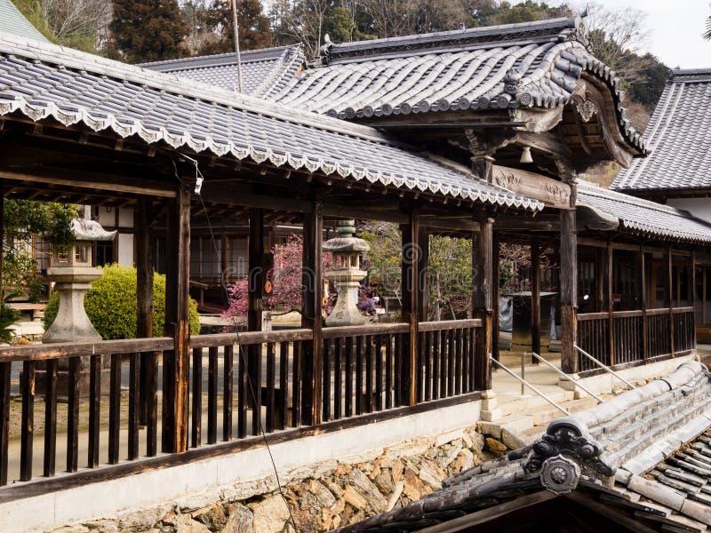 Koshoji temple in Uchiko, Japan royalty free stock image