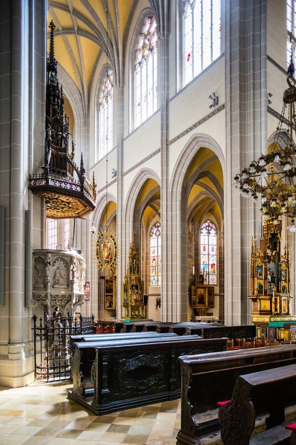 kosice Σλοβακία Εσωτερικό του καθεδρικού ναού του ST Elisabeth στοκ φωτογραφίες