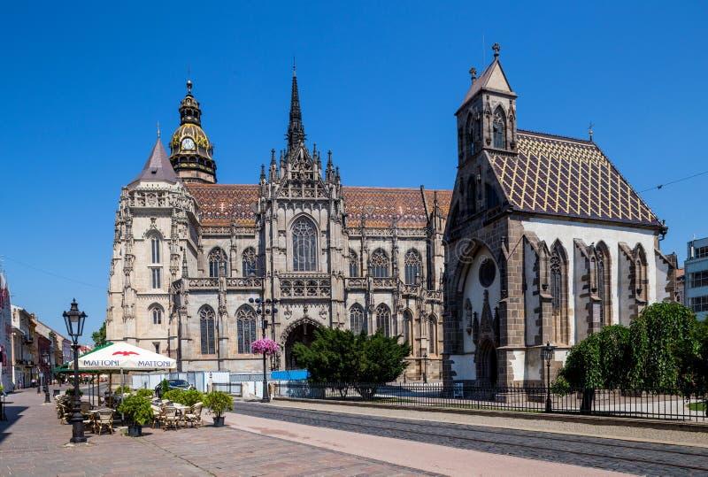 Kosice στη Σλοβακία Επισκόπηση του καθεδρικού ναού του ST Elisabeth στοκ φωτογραφία με δικαίωμα ελεύθερης χρήσης