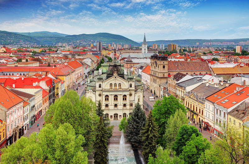 Kosice - Eslováquia fotografia de stock