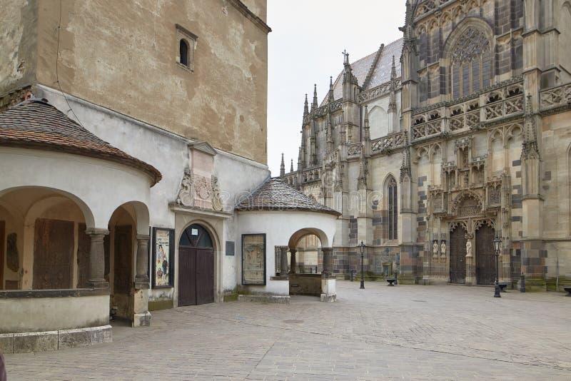 Kosice, Eslovaquia - 17 de abril de 2018: Catedral del ` s del St Elizabeth en Kosice fotografía de archivo