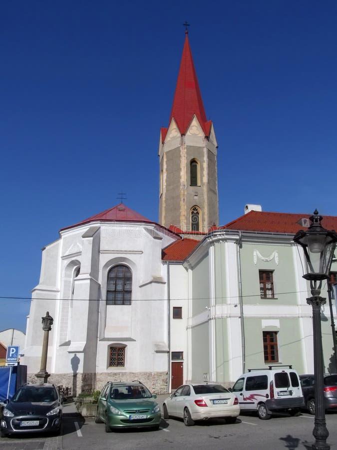 Kosice Sistani, Maj, - 2, 2018: Dominikański kościół przy Dominikańskim kwadratem stary kościół w Kosice Kościół wniebowzięcie fotografia stock