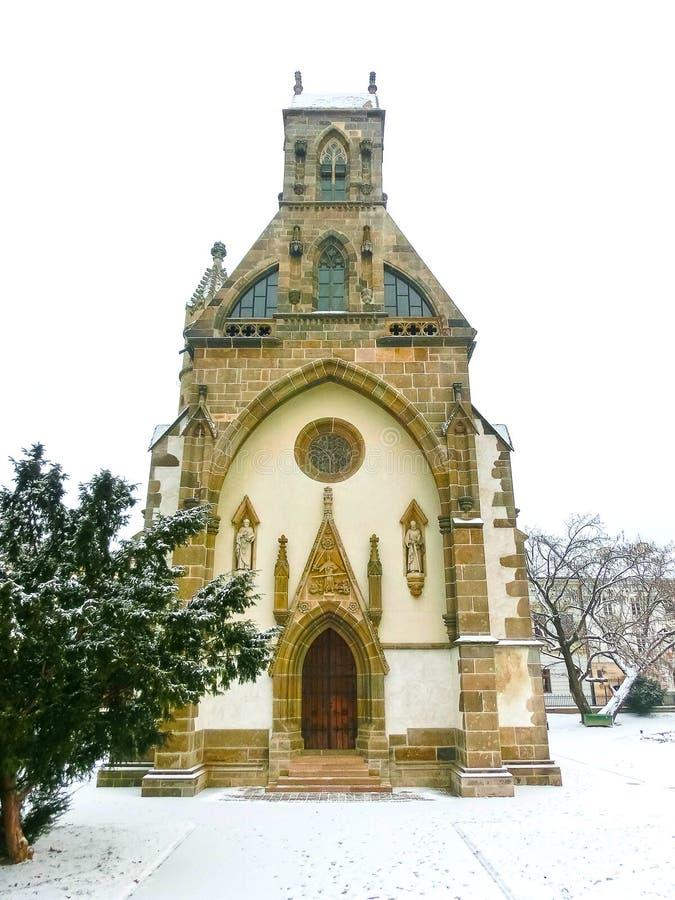 Kosice, Slowakije - Januari 05, 2016: St Michael kapel in het belangrijkste vierkant royalty-vrije stock foto's