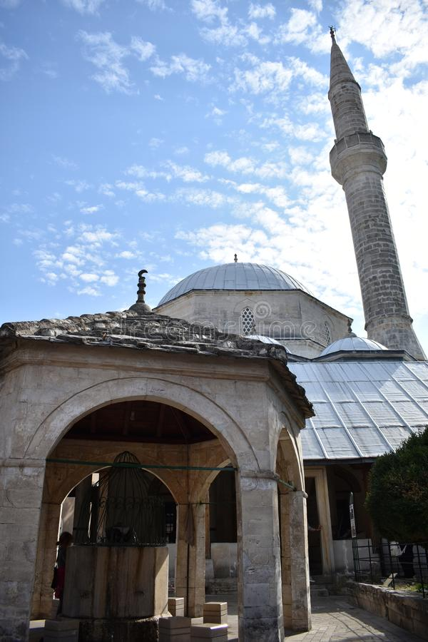 Koski Mehmed PaÅ ¡ ina dÅ ¾ amija u Mostaru zdjęcia royalty free
