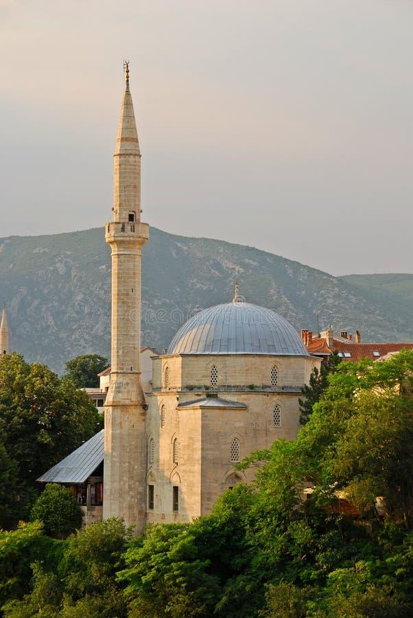 Koski Mehmed Pasha Mosque a Mostar Bosnia immagine stock libera da diritti