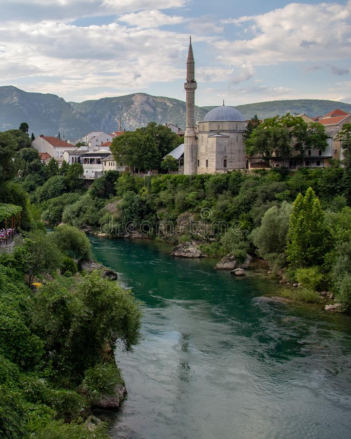 Koski Mehmed Pasha Mosque a Mostar, Bosnia-Erzegovina fotografie stock