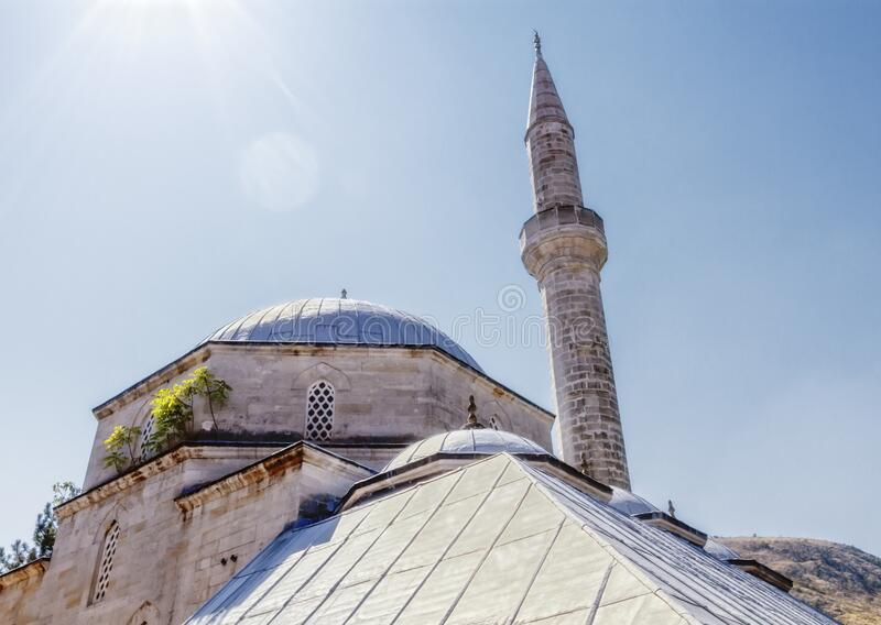 Koski Mehmed Pasha Mosque in Mostar, Bosnia and Herzegovina royalty free stock image