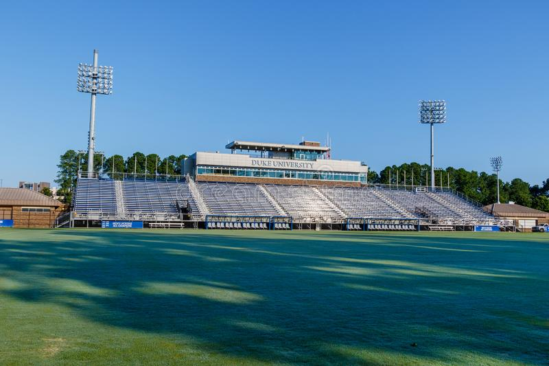 Koskinen Stadium. at Duke University. DURHAM, NC, USA - AUGUST 8: Koskinen Stadium on August 8, 2019 at Duke University in Durham, North Carolina stock photography