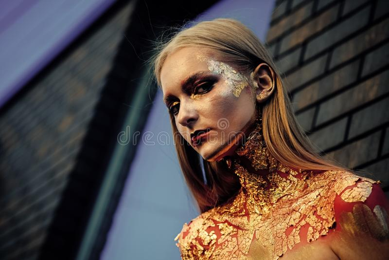 Kosmetik, Cosmetology, Gesichtsbehandlung stockfotografie