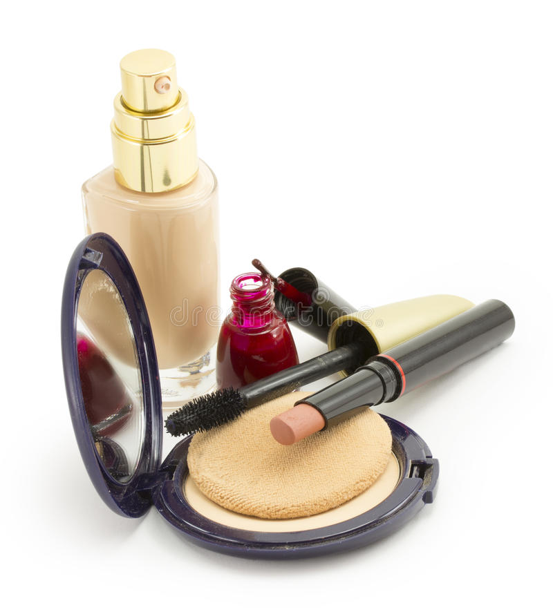 Kosmetik für Gesicht stockbilder