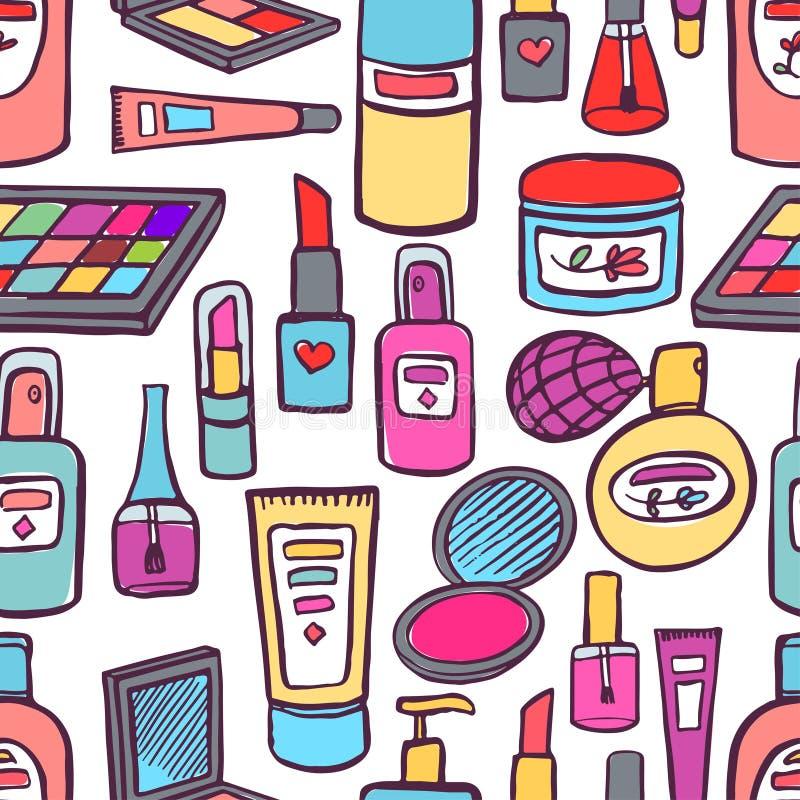 Kosmetik und Produkte für Körperpflege stock abbildung