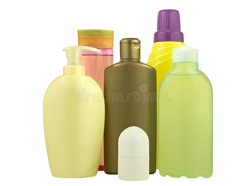 Kosmetikflaschen lizenzfreies stockbild