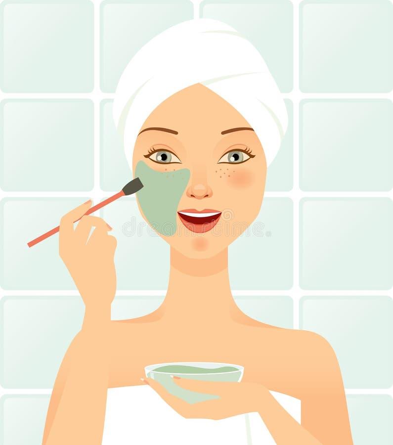Kosmetisch masker gezichts vector illustratie
