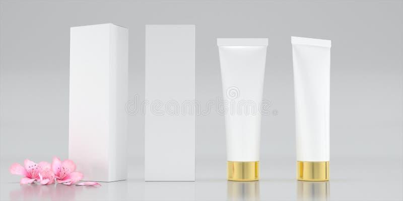Kosmetisch pakketserum royalty-vrije stock afbeelding