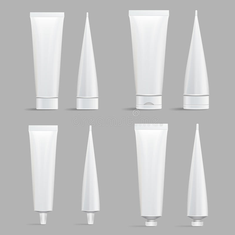 Kosmetische Buisreeks Vectorspot omhoog stock illustratie
