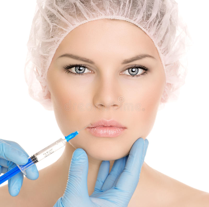 Kosmetische chirurgievrouw royalty-vrije stock foto's