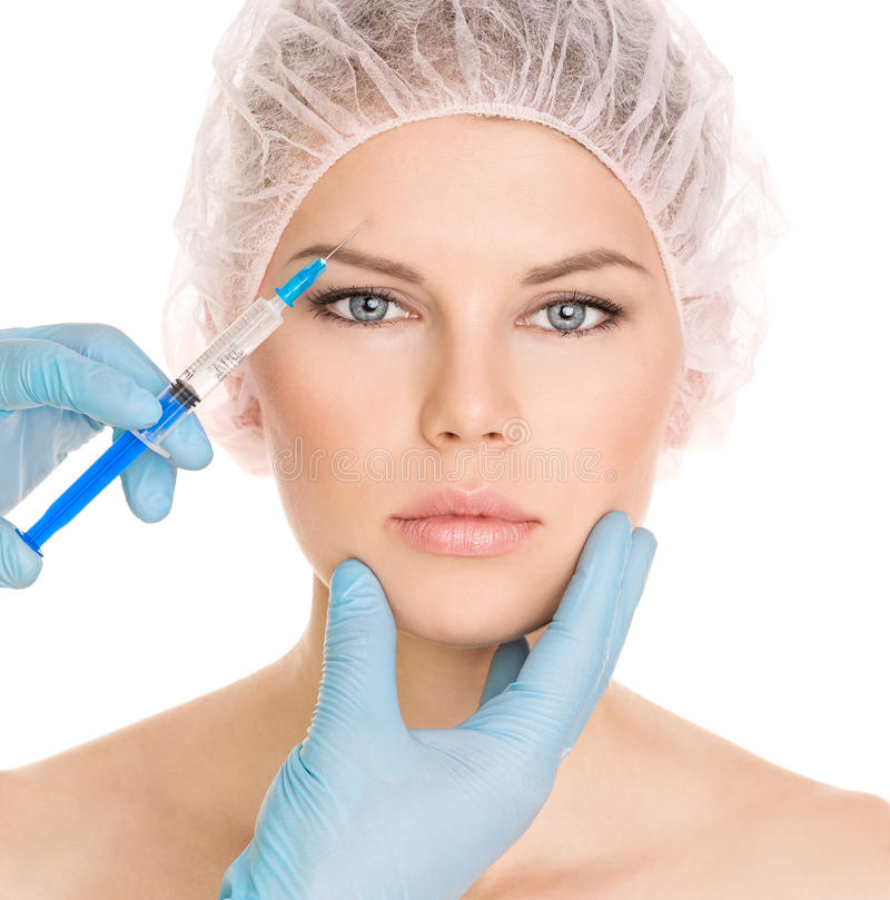 Kosmetische chirurgievrouw stock afbeeldingen