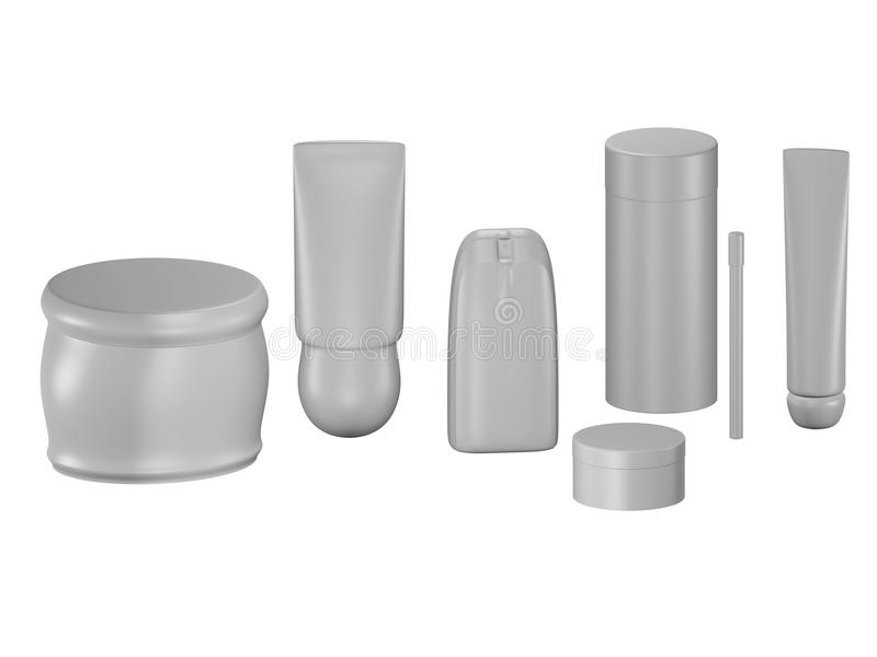 Kosmetische Containers stock illustratie