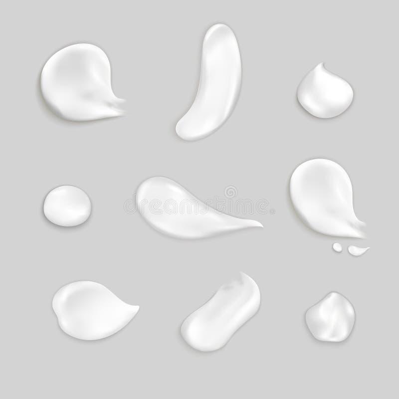 Kosmetische Creme schmiert realistischen Ikonen-Satz vektor abbildung