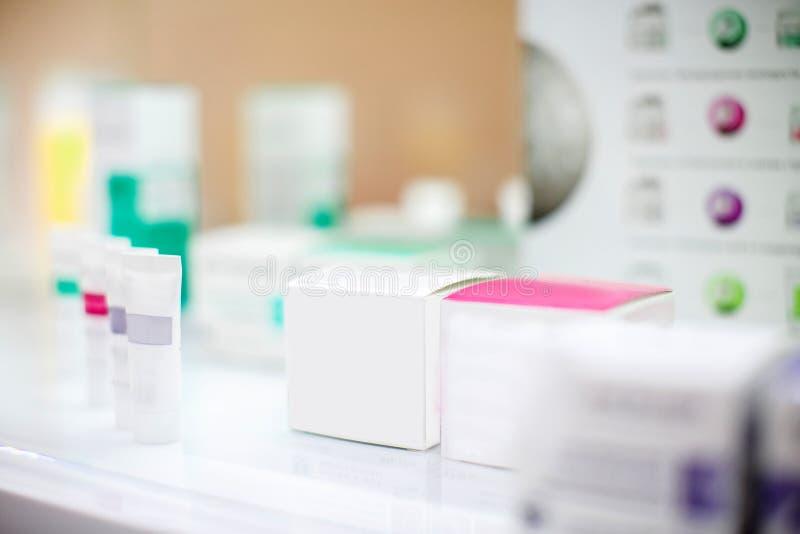 Kosmetische dozen voor room royalty-vrije stock fotografie