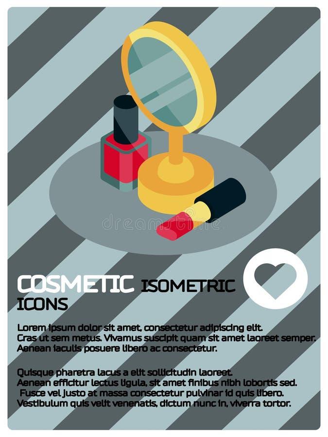 Kosmetische Farbisometrisches Plakat vektor abbildung