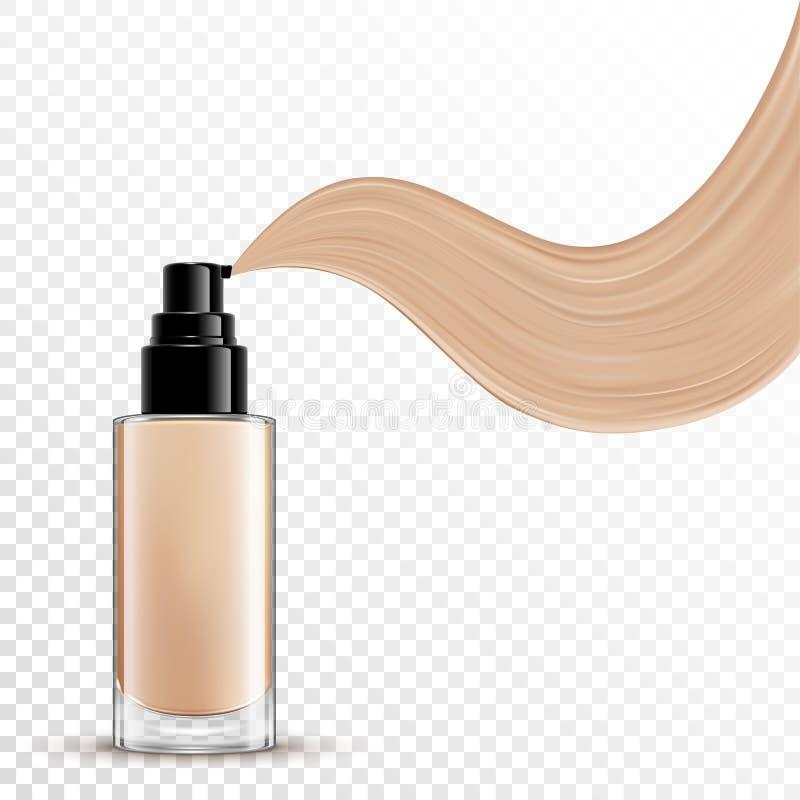Kosmetische flüssige Grundierung für Make-up stock abbildung
