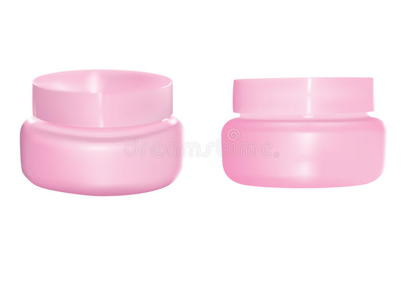 Kosmetische Flasche stock abbildung