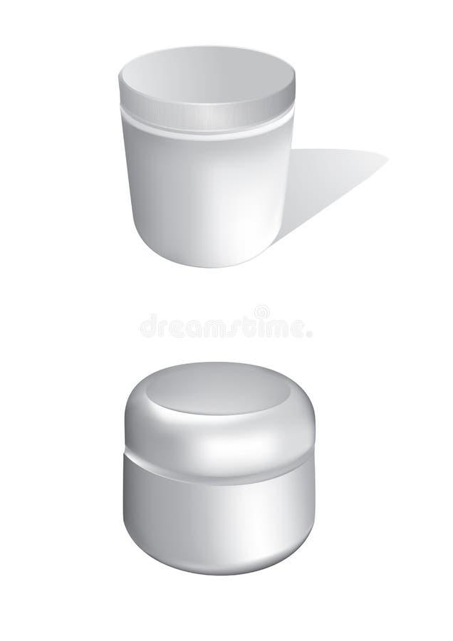 Kosmetische Flaschen stock abbildung