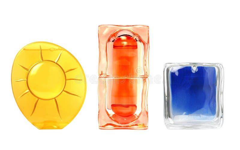 Kosmetische Flaschen eingestellt stockbild