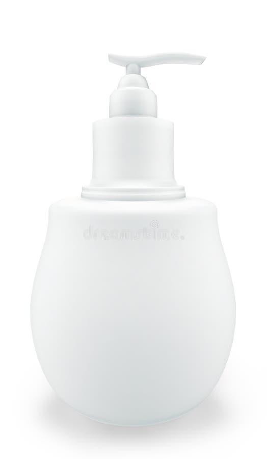 Kosmetische fles van vloeibare zeep vector illustratie