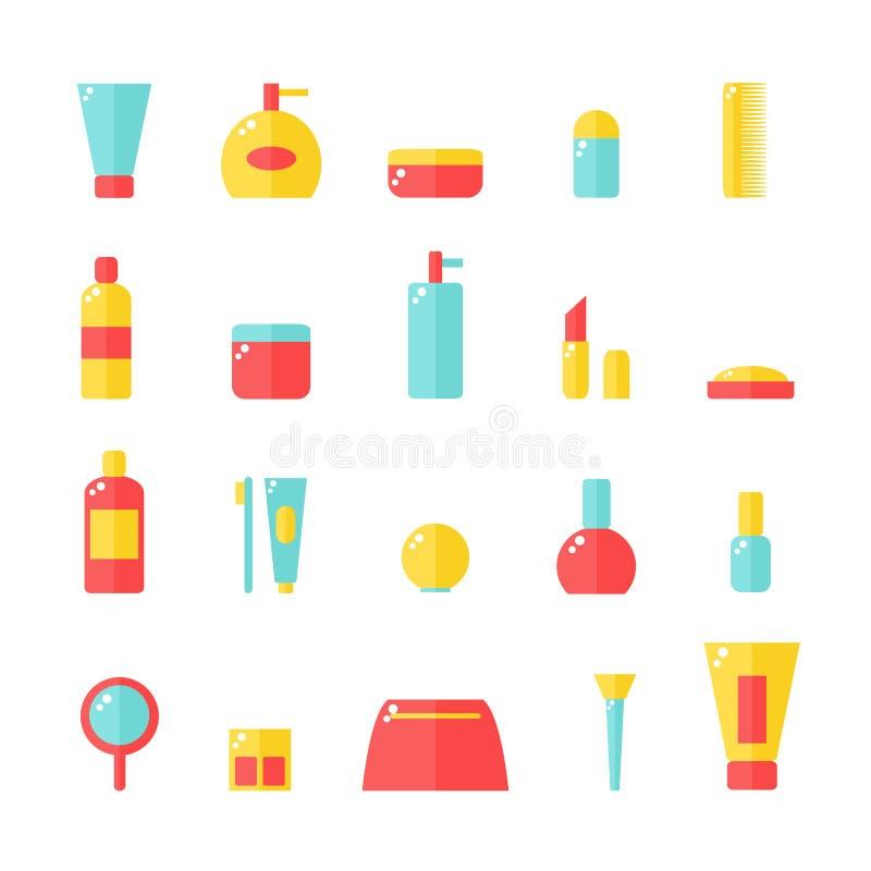 Kosmetische geplaatste pictogrammen royalty-vrije illustratie