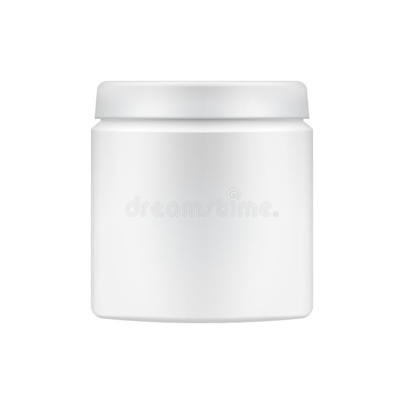 Kosmetische Paketschablone des Vektors stock abbildung