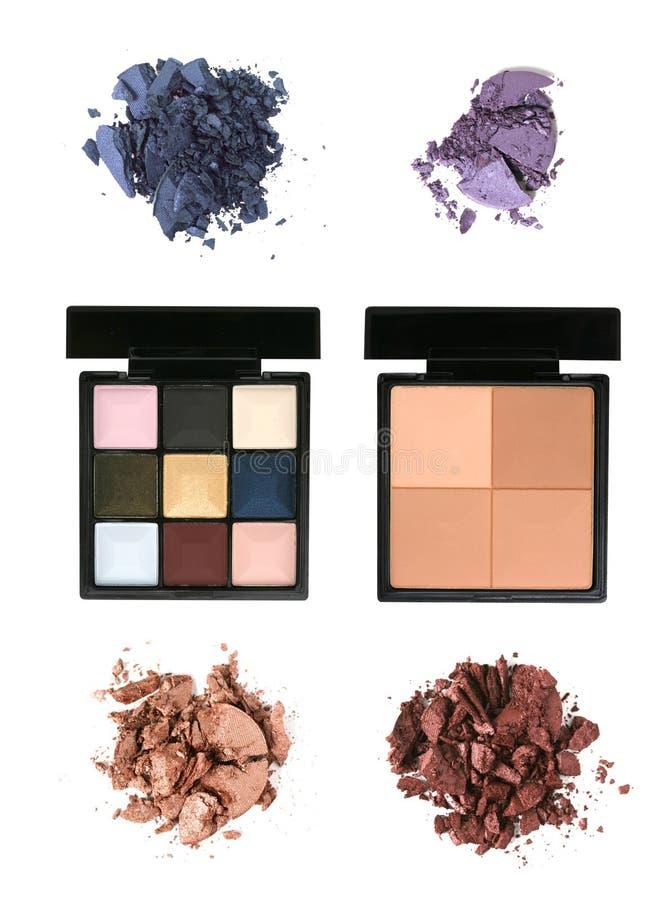 Kosmetische pallettes stock fotografie