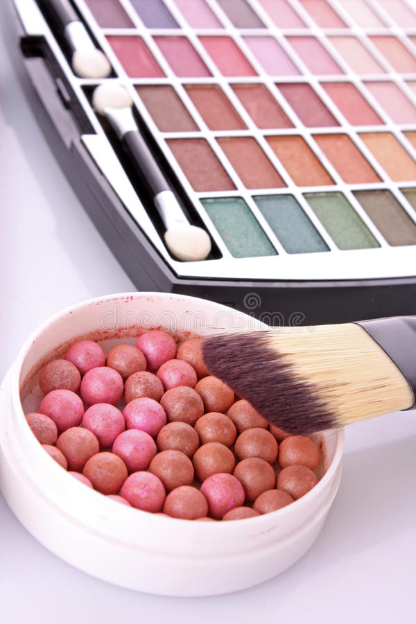 Kosmetische Pinsel stockfotos