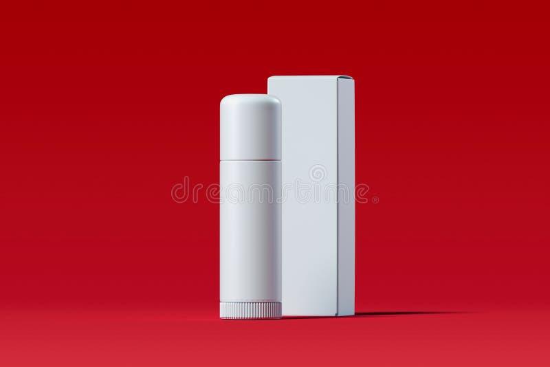 Kosmetische plastic container lippenpommade Het pakket van het schoonheidsproduct het 3d teruggeven vector illustratie