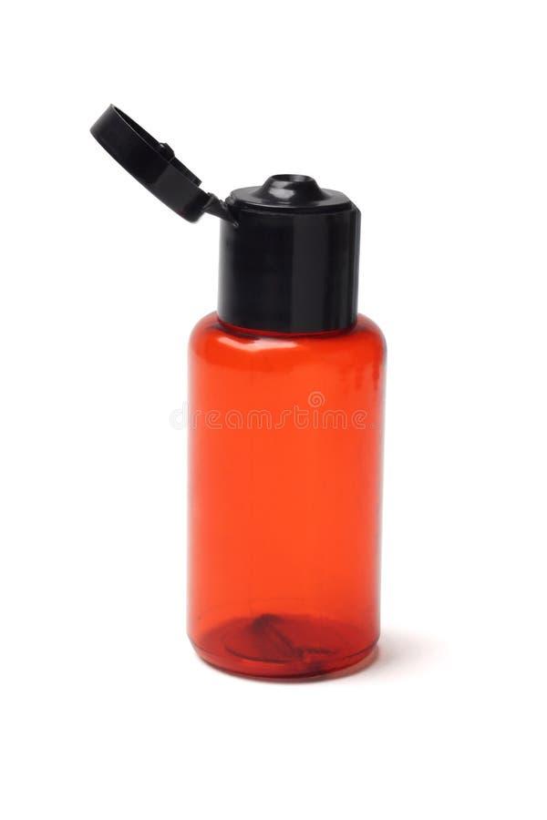 Kosmetische Plastic Fles stock foto's
