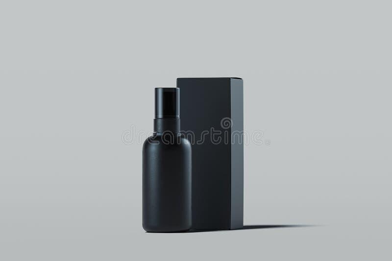 Kosmetische plastic nevel voor vloeistof Het pakket van het schoonheidsproduct het 3d teruggeven stock illustratie