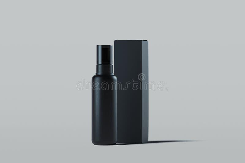 Kosmetische plastic nevel voor vloeistof Het pakket van het schoonheidsproduct het 3d teruggeven vector illustratie
