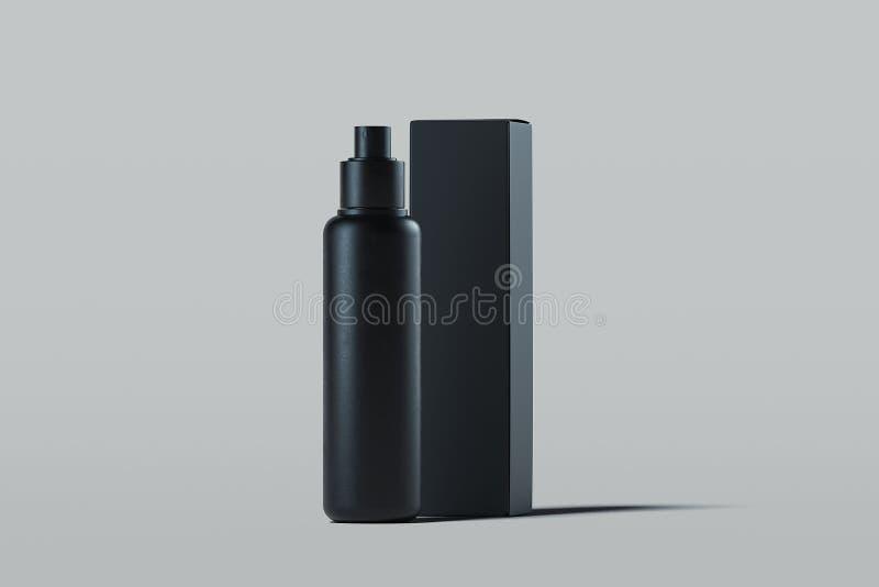 Kosmetische plastic nevel voor vloeistof Het pakket van het schoonheidsproduct het 3d teruggeven royalty-vrije illustratie