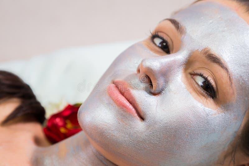 Kosmetische procedures voor het gezicht royalty-vrije stock afbeeldingen