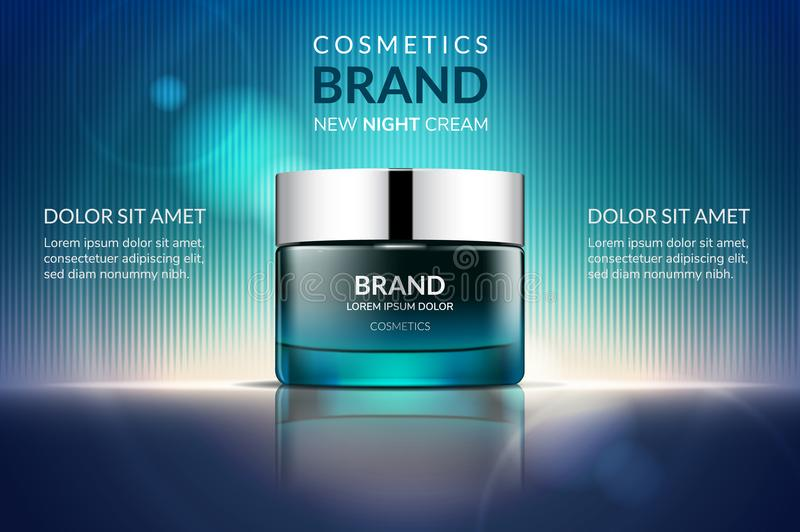Kosmetische Sahneanzeigen lizenzfreie abbildung