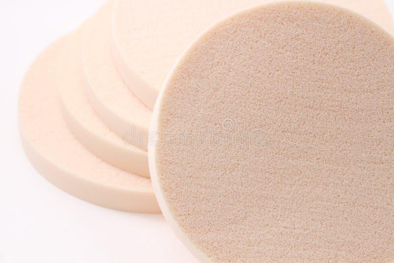 Kosmetische sponsen stock afbeeldingen
